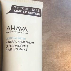 Ahava Dead Sea mineral hand cream.